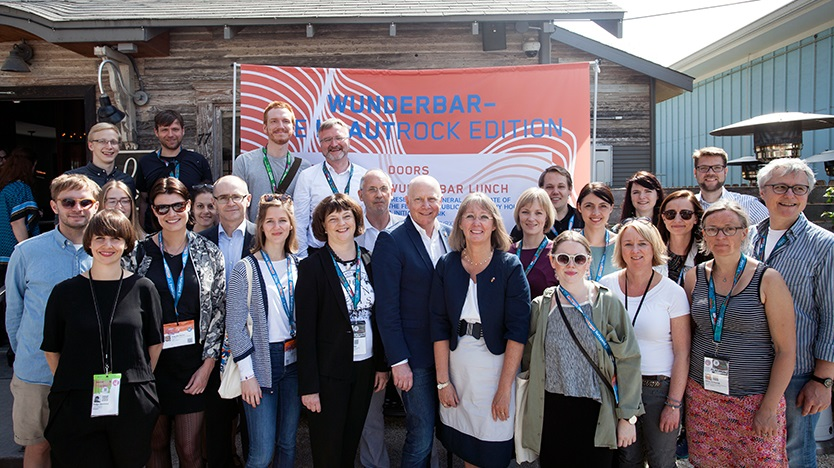 "Gruppenbild bei der Messe ""South by Southwest"" in Texas"