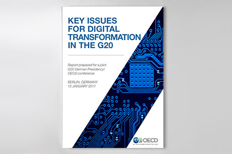 "Cover der Publikation ""Key Issues for Digital Transformation in the G20"""