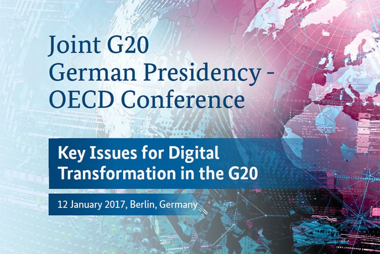 "Keyvisual der ""Joint G20 German Presidency-OECD Conference"""
