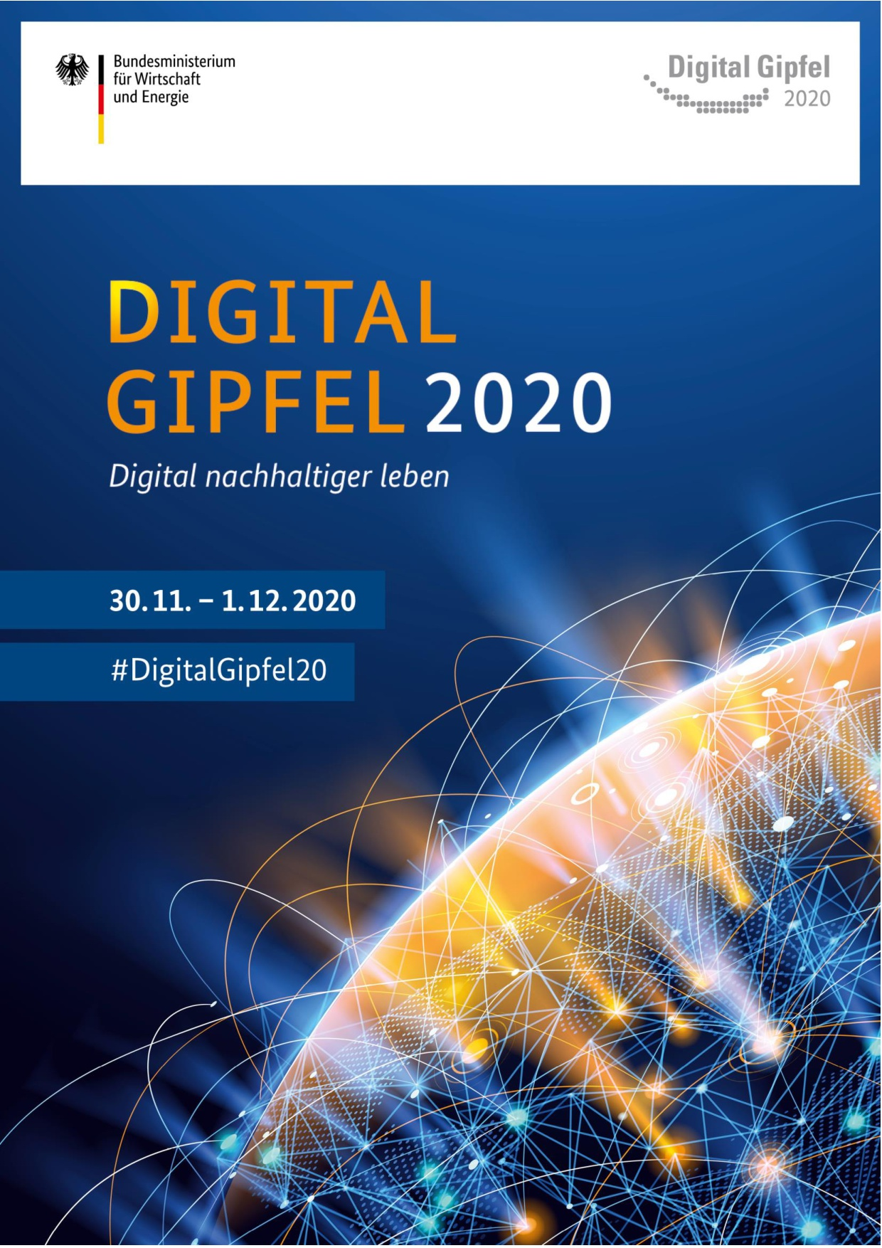 Cover des Programms zum Digital-Gipfel 2020