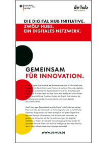 "Cover der Publikation ""Die Digital Hub Initiative"""
