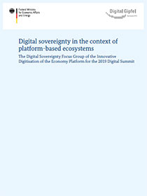 "Cover der Publikation ""Digital sovereignty in the context of platform-based ecosystems"""
