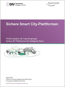 "Cover der Publikation ""Sichere Smart City-Plattformen"""