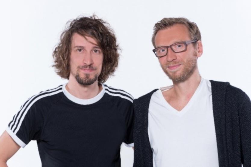 Das Bild zeigt das Gründerteam von mediaire.