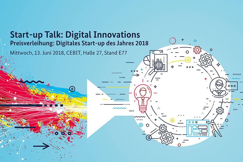 Keyvisual des Start-up Talk: Digital Innovations