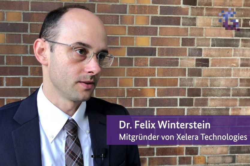 Screenshot aus dem Vlog mit Felix Winterstein von Xelera Technologies.