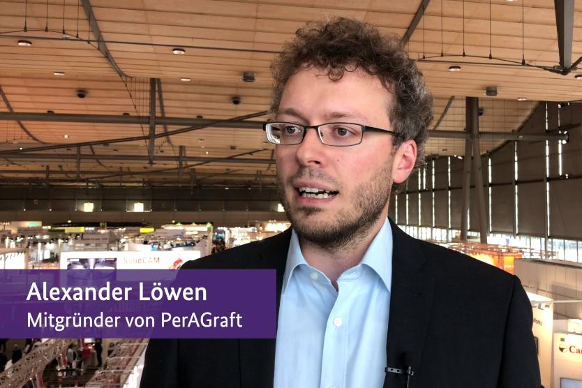 Screenshot vom Vlog mit Alexander Löwen von PerAGraft.