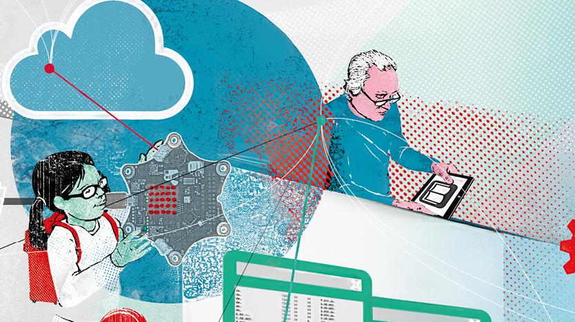 """Illustration """"New Learning Methods for New Jobs"""""""