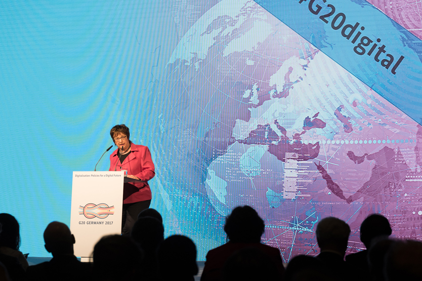 Economic Affairs Minister Brigitte Zypries; Source: BMWi/Maurce Weiss