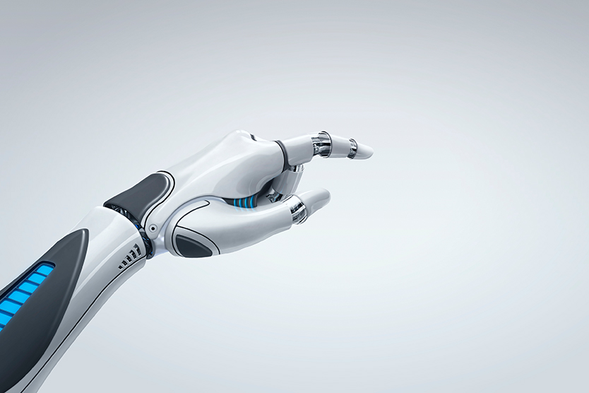 Robot hand, symbolising artificial intelligence