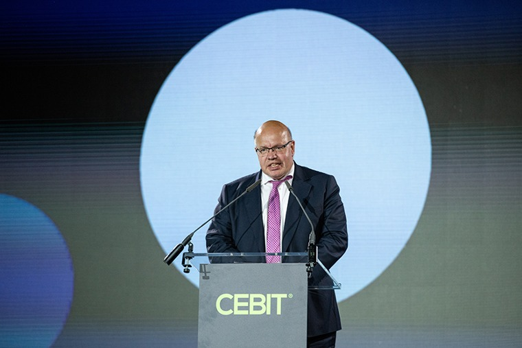 Federal Minister Altmaier opens CEBIT 2018