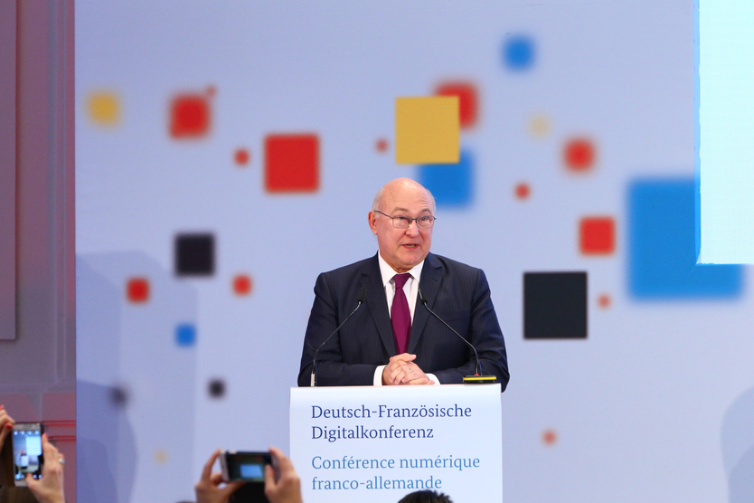 Michel Sapin, the French Minister of the Economy, Industry and Digital Affairs, during his opening speech.