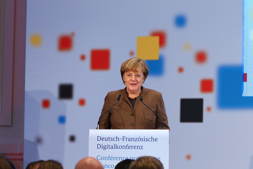 Following a summary of the discussions, Federal Chancellor Merkel gave her speech.