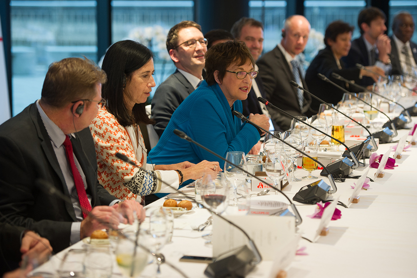 Following the conclusion of the Multi-Stakeholder Conference, the G20 Digital Ministers met for a joint dinner.