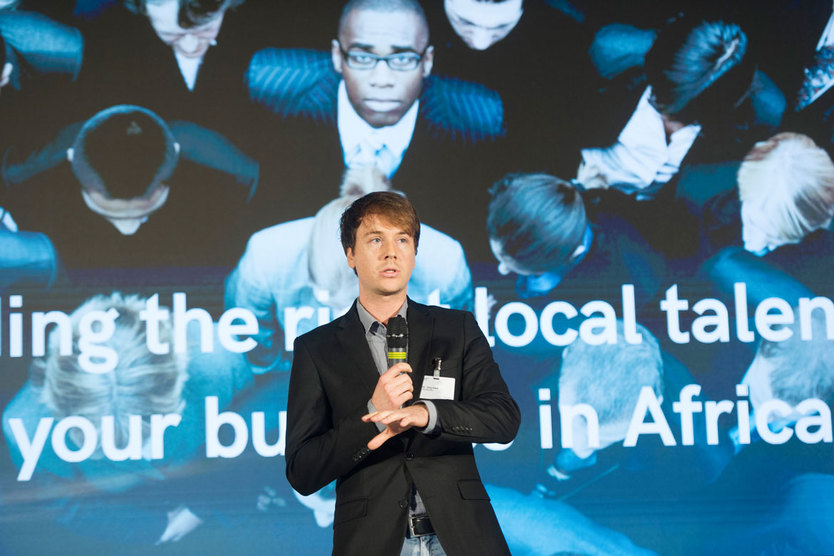 Dr Jörg Klein presented Africa Works – a start-up that aims to help international companies operating in Africa recruit skilled African staff.