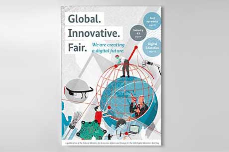 "Cover ""Global. Innovative. Fair."""