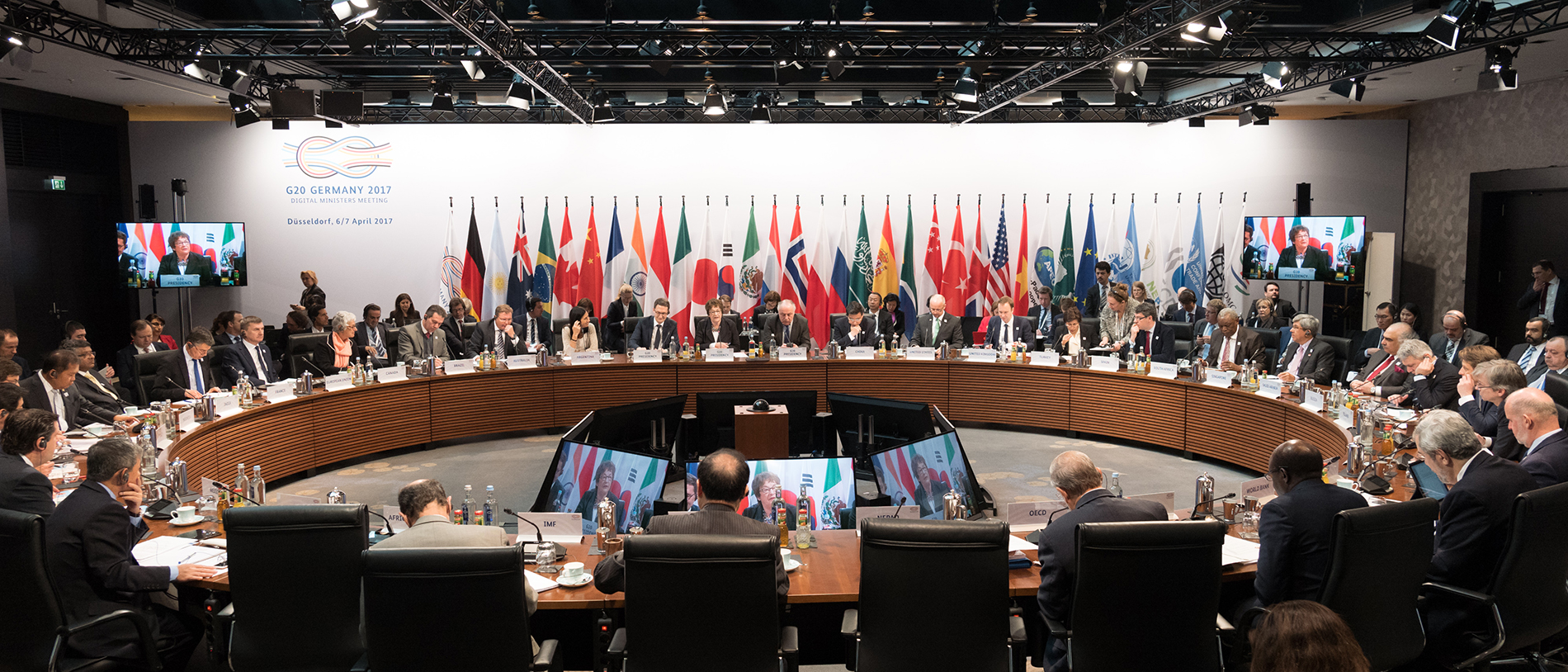 Group picture of the G20 Digital Ministers Meeting; source: BMWi/Maurice Weiss