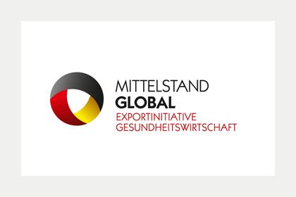 Logo Mittelstand Global Exportinitiative Gesundheitswirtschaft
