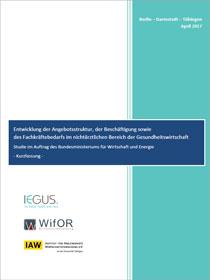 Cover der Publikation Entwicklung der Angebotsstruktur, der Beschäftigung sowiedes Fachkräftebedarfs im nichtärztlichen Bereich der Gesundheitswirtschaft