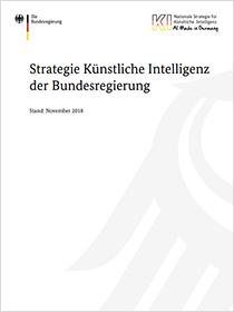 """Cover der Publikation """"Strategie Künstliche Intelligenz der Bundesregierung"""""""