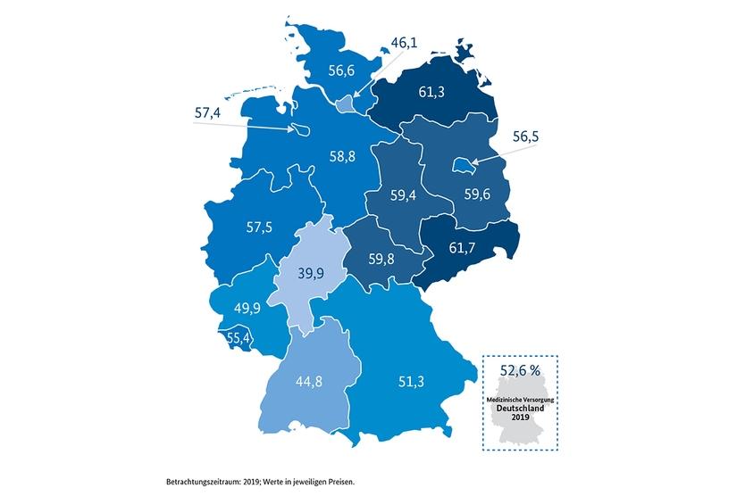 Anteil der Bruttowertschöpfung der medizinischen Versorgung an der regionalen Gesamtwirtschaft (in Prozent)